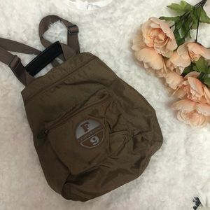 LeSportsac vintage mini backpack Napsack khaki